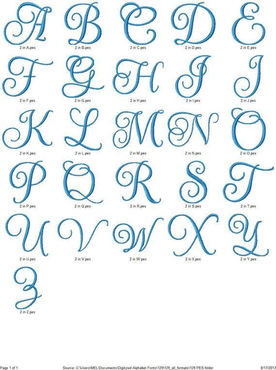 Schriften Monogramm 129 Maschine Stickerei von SewFunFonts auf Etsy