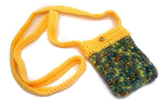 Small crochet handbag FREE SHIPPING colorful handbag