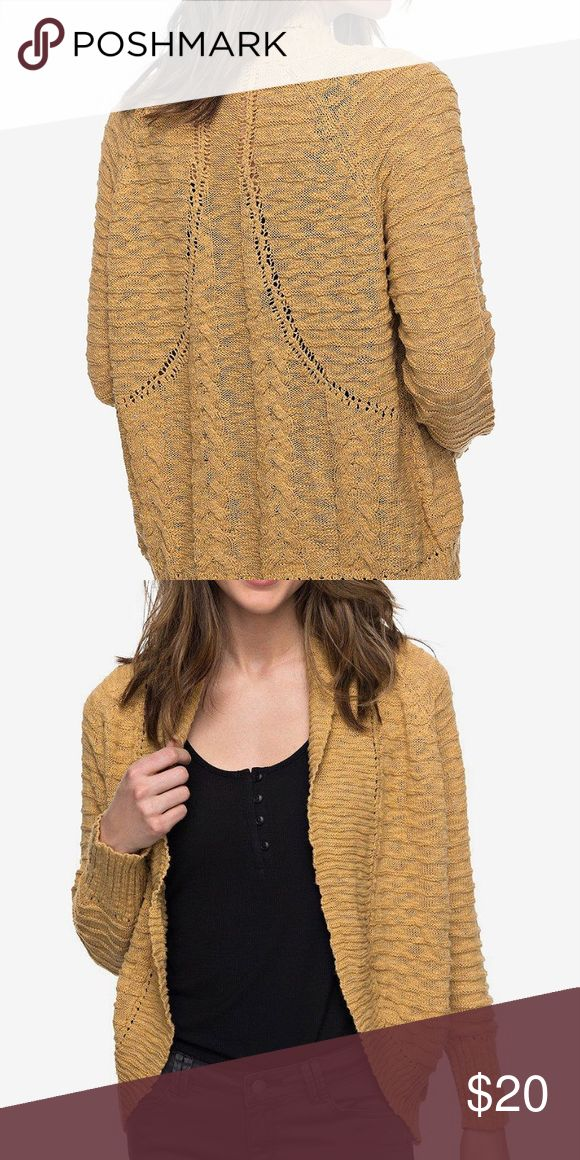 SALE! Roxy cardigan Cyber Monday sale ‼️Knit cardigan with a rounded back hem. Roxy Sweaters Cardigans