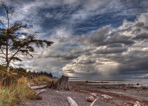 Wild Sky North of Qualicum Beach