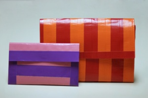 how to make a cute duct tape purse just fun!! Crafty B it