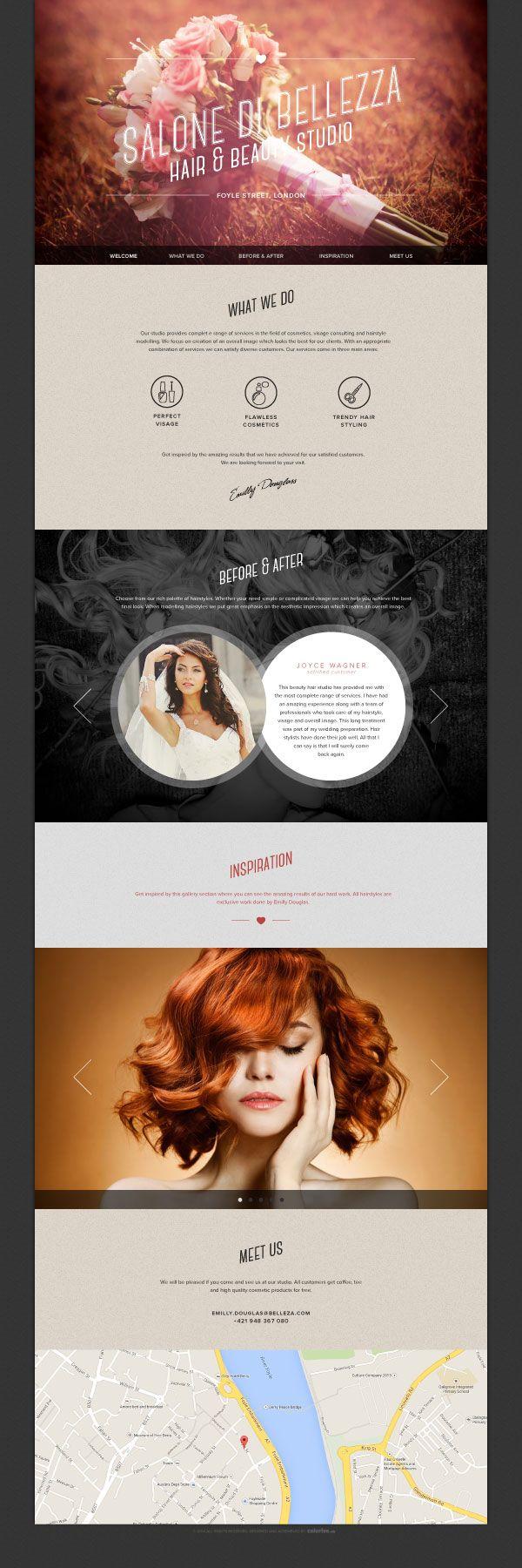 Best 25+ Salon website ideas on Pinterest   Website design cost ...