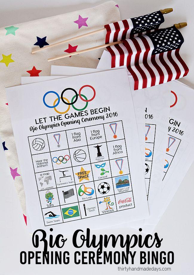 Rio Olympics Opening Ceremony BINGO