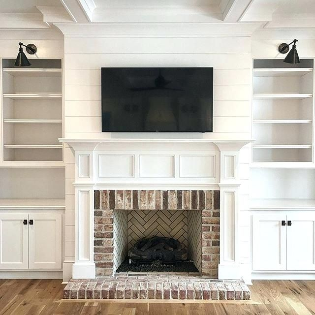 Fireplace Built Ins, Removing Raised Brick Fireplace Hearth