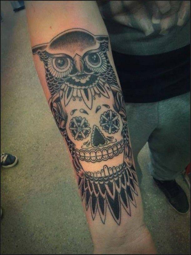 tattoo eule mit skull tattoo neu pinterest eule. Black Bedroom Furniture Sets. Home Design Ideas