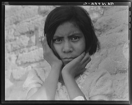 Daughter of Mexican field laborer. Near Chandler, Arizona.jpg