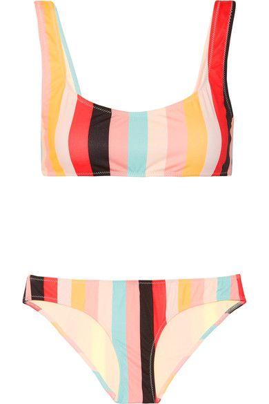 Solid and Striped - The Elle Striped Bikini - Bubblegum
