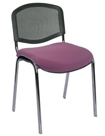 Espaldar en malla y asiento color uva