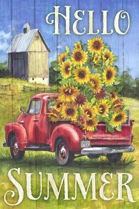 Sunflower Truck By Geoff Allen