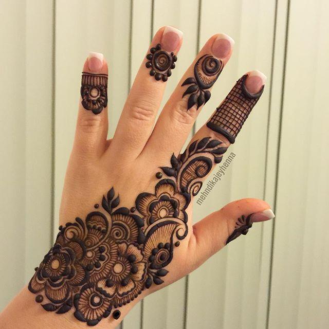 Mehendi design for short hands
