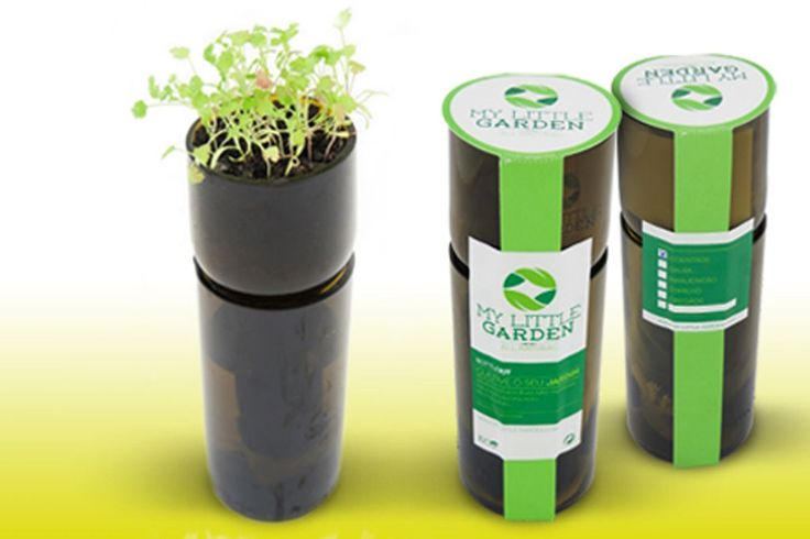 """Anthony Carter produz """"kits"""" de ervas aromáticas a partir de garrafas de vidro recicladas. O que começou como uma prenda de Natal feita em casa é agora um projecto de agricultura em casa"""