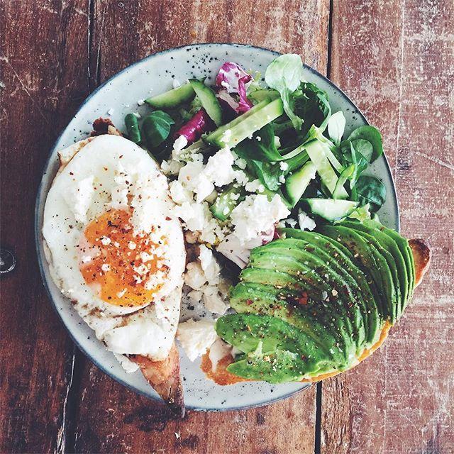 Ägg + avokado på levainbröd =