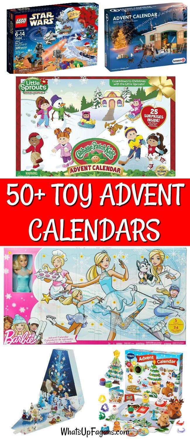 Countdown to Christmas with a toy advent calendar for kids from babies to grade school