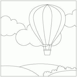 in een luchtballon luchtballon kleurplaten zomer