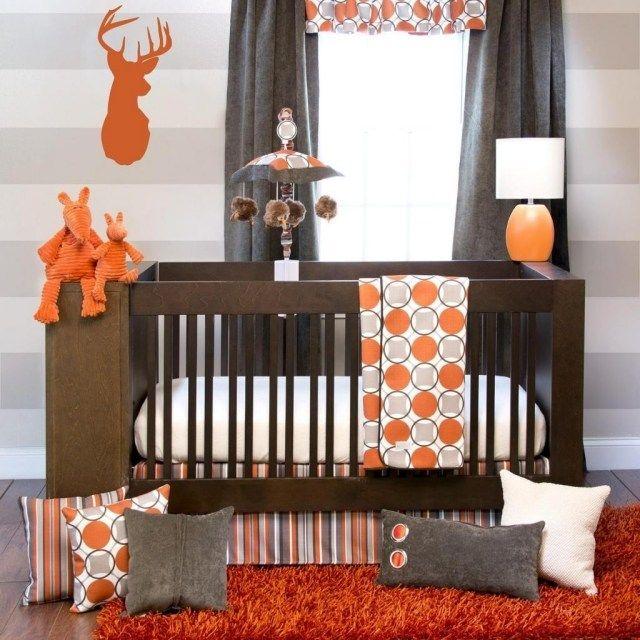 33 rideaux petits garons petites filles cercles orange inspiration enfant allons partager deco chambres chambre dco gris fonc - Orange Chambre Bebe