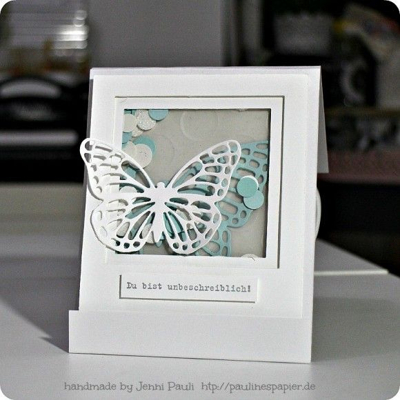 Stampin'Up! Butterflies thinlits, Shaker card