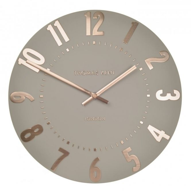 Mulberry 20 Wall Clock Rose Gold Rose Gold Kitchen Wall