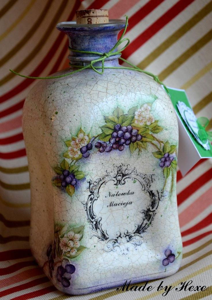 78 best images about decoupage bottles on pinterest shabby chic do it yourself and decoupage. Black Bedroom Furniture Sets. Home Design Ideas