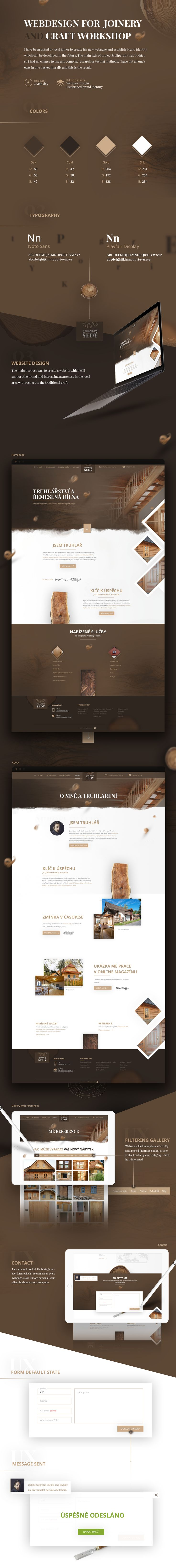 Webdesign for Joinery and local workshop