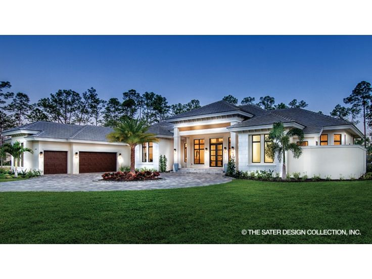 home plan homepw78134 is a gorgeous 4030 sq ft 1 story 4 bedroom - House 1 Story