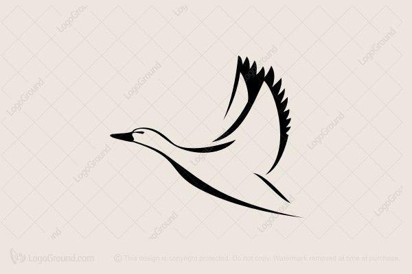 Logo for sale: Duck In Flight Logo