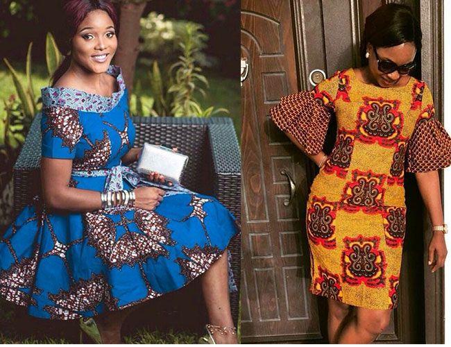 16 modèles de robes en pagne deux tons