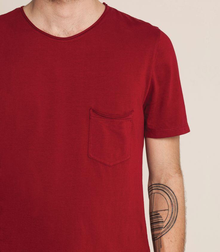 Light Weight Pocket T - Burnt Red
