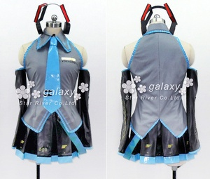"A music software character of Japan.  The name of software is ""VOCALOID.""    The name of a character is ""HATSUNE MIKU.""   This is clothes of ""MIKU"" .  VOCALOID初音ミクコスプレ衣装"