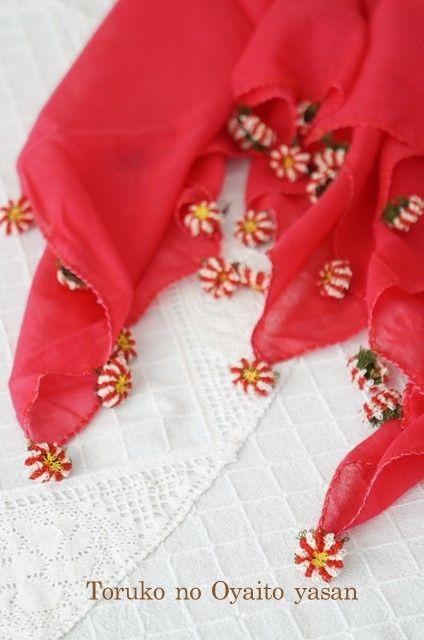 画像4: メルシン地区 華やかイーネオヤのお花付スカーフ