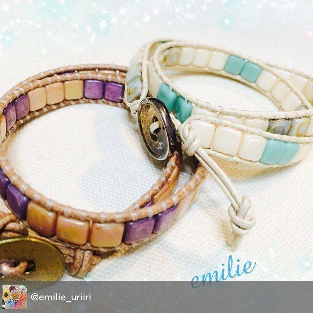 Beautiful Wrapit Loom Bracelet by @emilie_uriiri with dire rent size beads. #wrapitprobracelet #wrapitloom