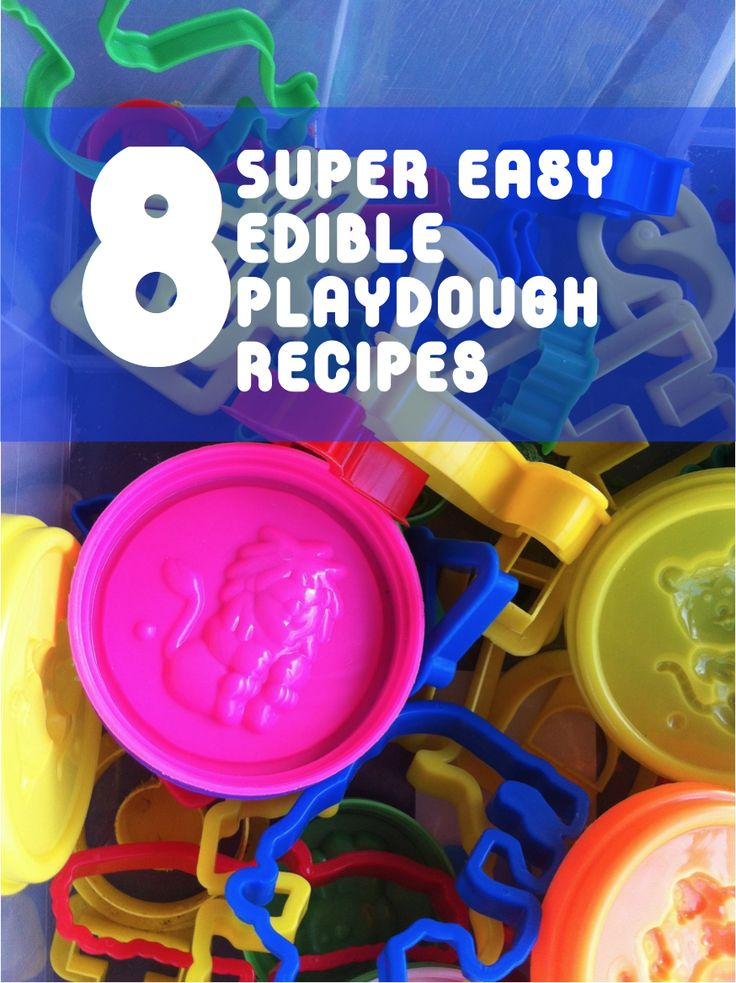 8 super easy edible playdough recipes. Every child has tried a sneaky taste at least once. With these super easy edible playdough recipes, you won't have to worry about them ingesting any chemicals from the store-bought versions.