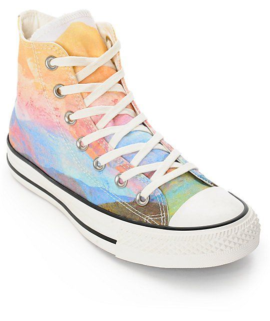 55ec05c92dbc Converse Womens CTAS Photo Real Sunset High Top Shoes in 2019 ...
