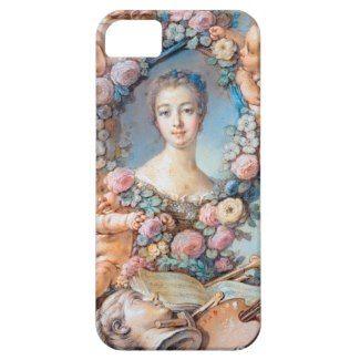 Madame de Pompadour François Boucher rococo lady Cover For iPhone 5/5S #madame #pompadour #pastel #portrait #boucher #Paris #France #classic #art #custom #gift #lady #woman #girl