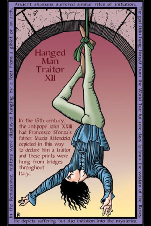 hanged man tarot card relationship spread