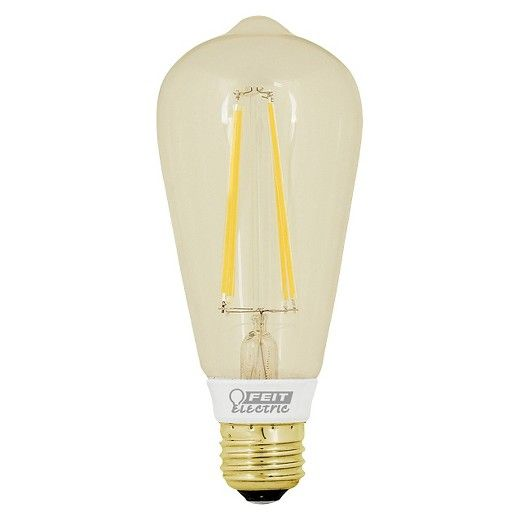 Feit 60-Watt Vintage ST19 LED Light Bulb - Soft White. The vintage LED line from FEIT electric combines traditional appearance with modern technology. Utilizing a high output LED filament to recreate the classic look of a traditional incandescent filament bulb, FEIT vintage LED bulbs are perfect for classic styled fixtures, lanterns or any application where the appearance of an exposed bulb is important.