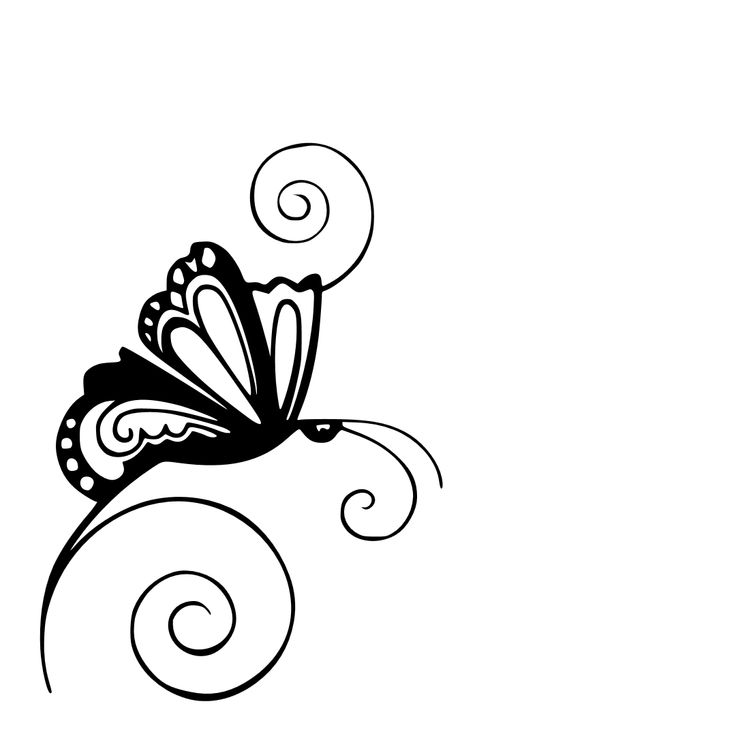 Free Cutting File of Swirls Butterfly....   Jennifer Collector of Hobbies