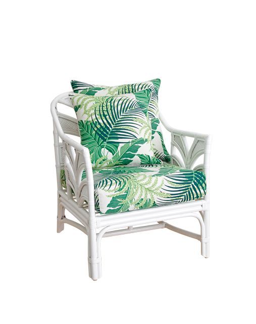 'Tropi Cool' armchair, $985, Naturally Cane