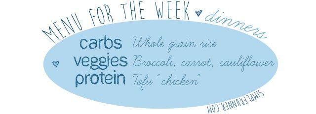 dinner menu for the week