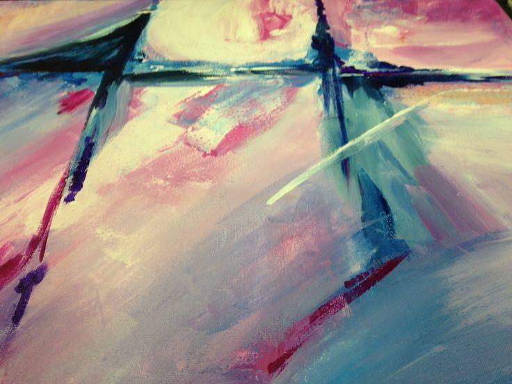 "My original work, created at a women's night art event in Saskatoon. Acrylics 16"" x 20"""