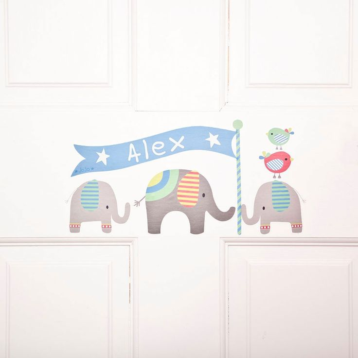 Personalise A Door, Nursery Or Bedroom With The Personalised Name Wall  Stickers, Featuring Our Signature Elephant Design. With Enough Letters To  Spell Part 92
