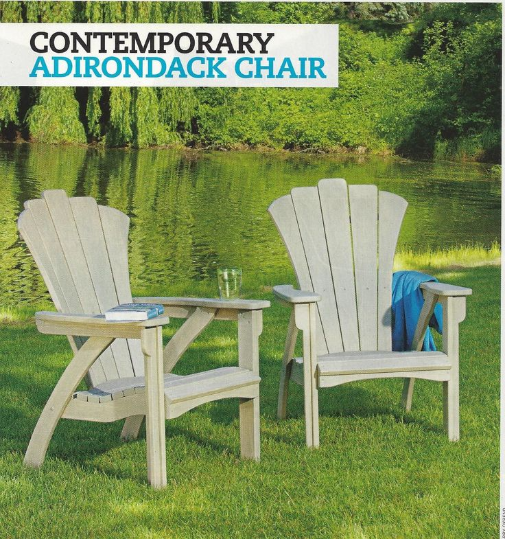 Woodworking Plans How To Build CONTEMPORARY ADIRONDACK CHAIR Sleek Modern picclick.com