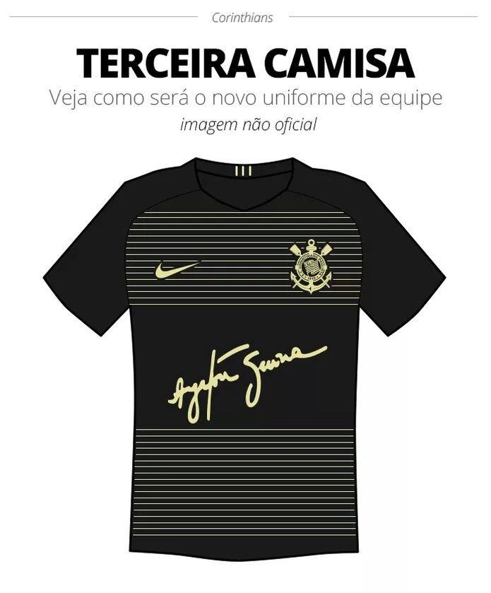 34ef66a527 Terceira camisa do Corinthians para 2018 fará homenagem à Ayrton Senna