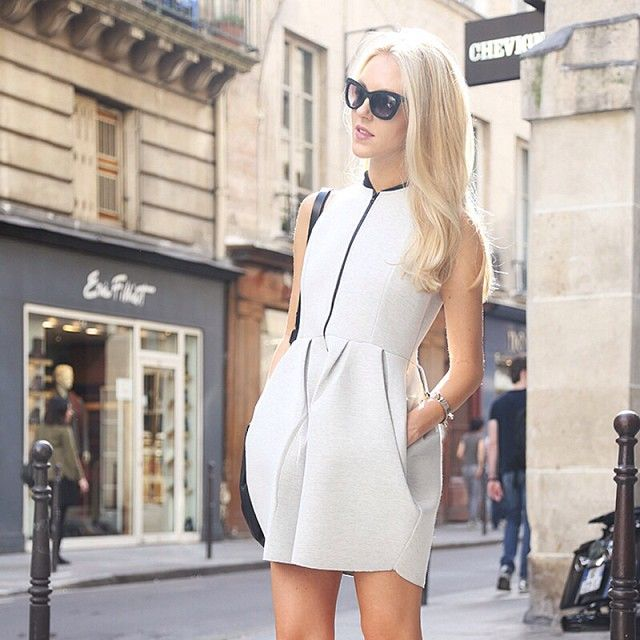 Fashion editor, blogger, stylist and designer, Shea Marie from Hollywood, was spotted wearing our Stylestalker three pointer structured dress made from neoprene fabric. Shop the frock now at www.threadsandstyle.com.au