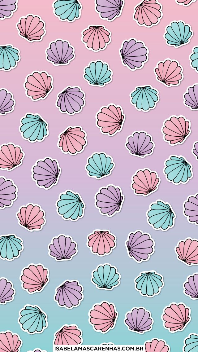 BACKGROUND DOWNLOAD mermaid, sereia, shell, concha, patch, patches, iphone, cellphone, celular, background, free, gratis, design
