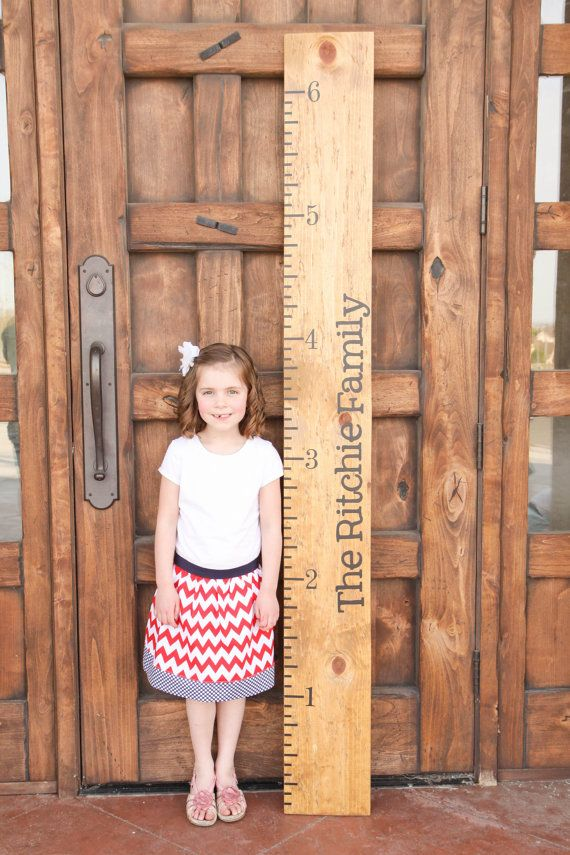 Personalized Growth Chart Vinyl Decal Kit  by TheVinylCompany