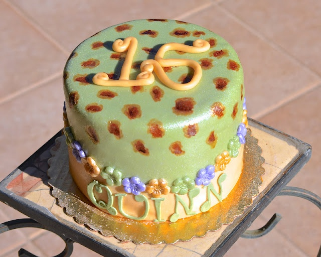 Girly leopard print cake