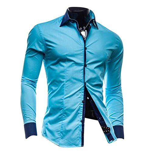Jeansian Uomo Camicie Maniche Lunghe Moda Men Shirts Slim Fit Casual Long Sleves Fashion 8660 Blue XS Jeansian http://www.amazon.it/dp/B00VSXJ1DK/ref=cm_sw_r_pi_dp_QkeWwb1SZEVWR