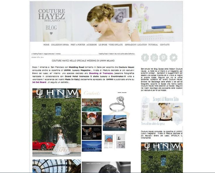 Post dedicated from Couture Hayez blog for the article and the cover on UHNW