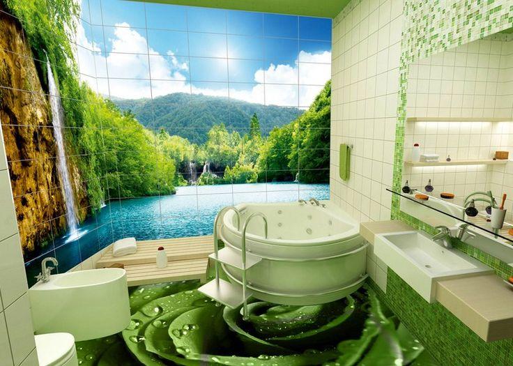 3D Banyo Duvar Kağıdı Modelleri