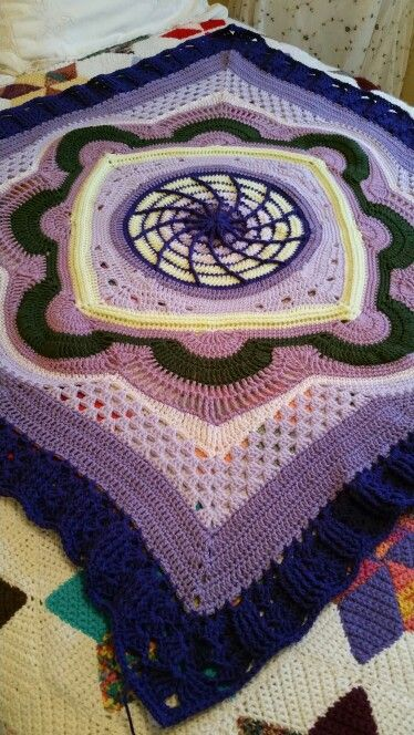 1/2 way through Depths of Change. Pattern by Frank ORandle on Ravelry